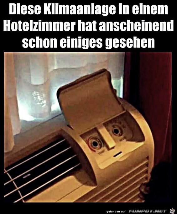 Entsetzte Klimaanlage
