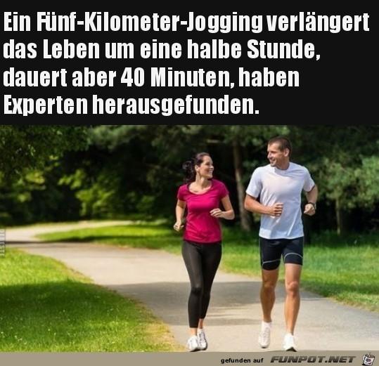 Fuenf Kilometer Jogging