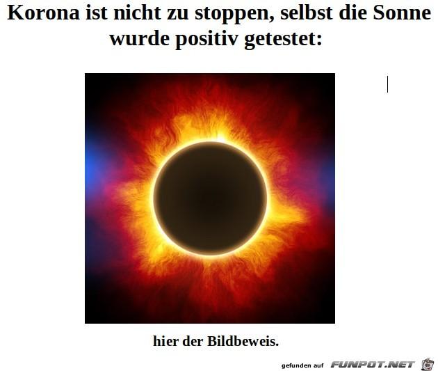 Sonne - hat - Corona