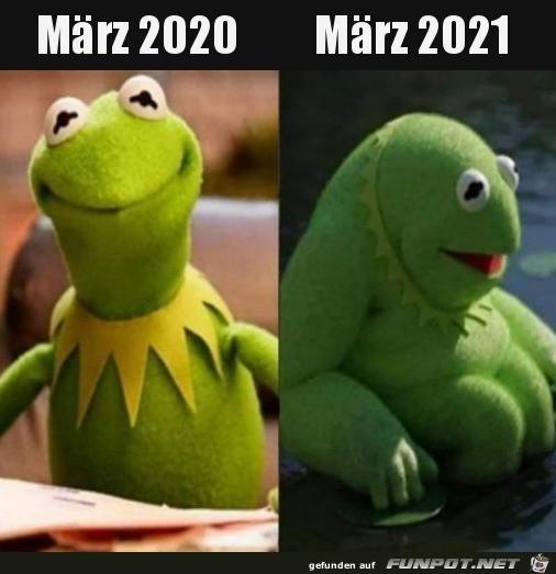 März 2020 und 2021