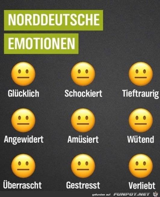 Die norddeutschen Emotionen