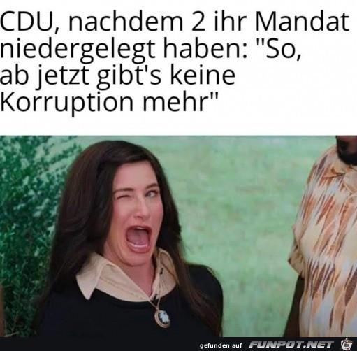 Keine Korruption mehr