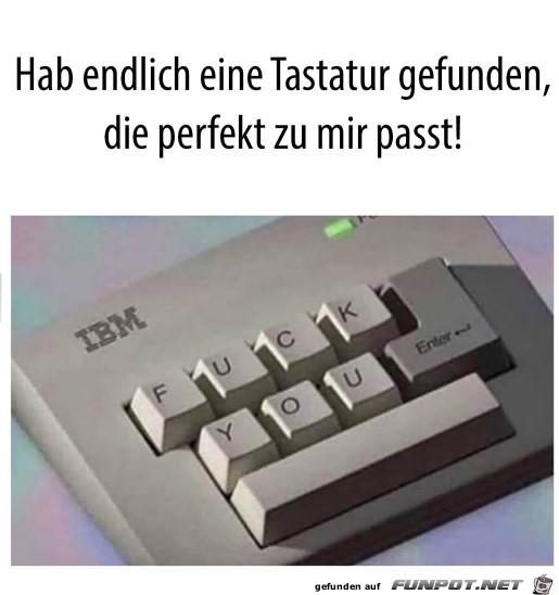 Perfekte Tastatur