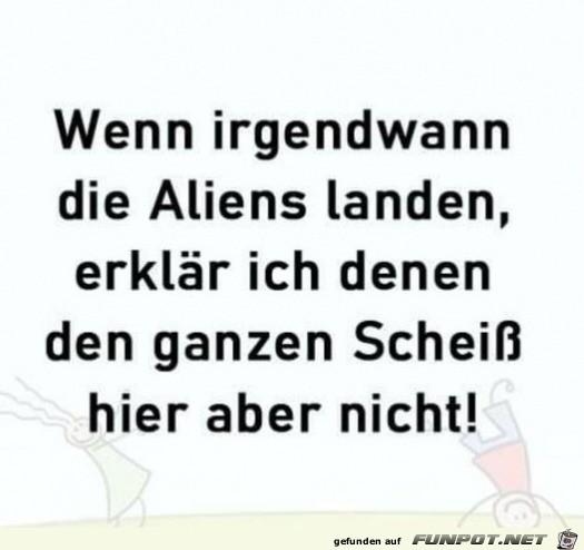 Wenn die Aliens landen