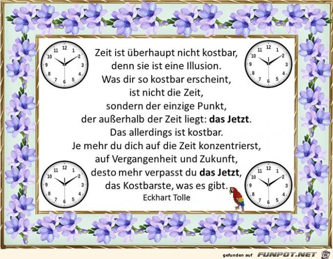 Zeit das Jetzt