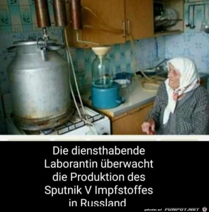 Sputnik-Impfstoff wird hergestellt