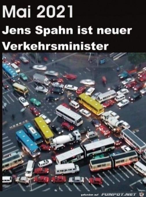 Neuer Verkehrsminister