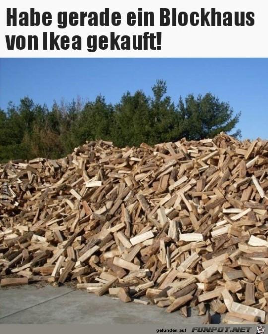 Blockhaus von IKEA