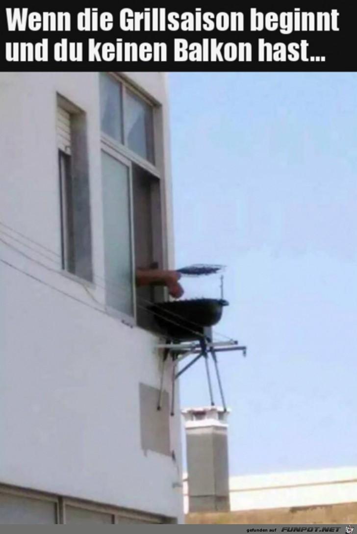 Wenn du keinen Balkon hast