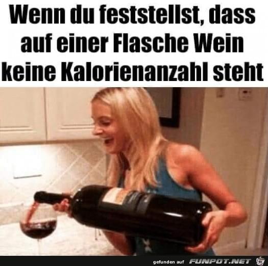 Wein hat keine Kalorien