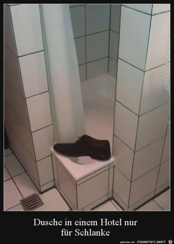 Dusche für Schlanke