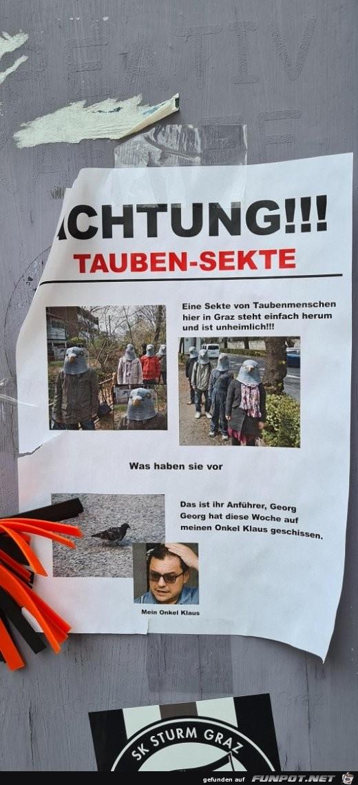 Tauben-Sekte