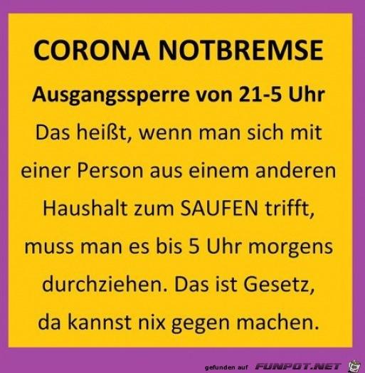 Corona Notbremse