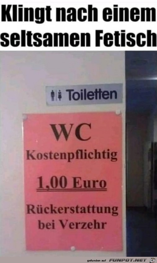 WC Kostenpflichtig