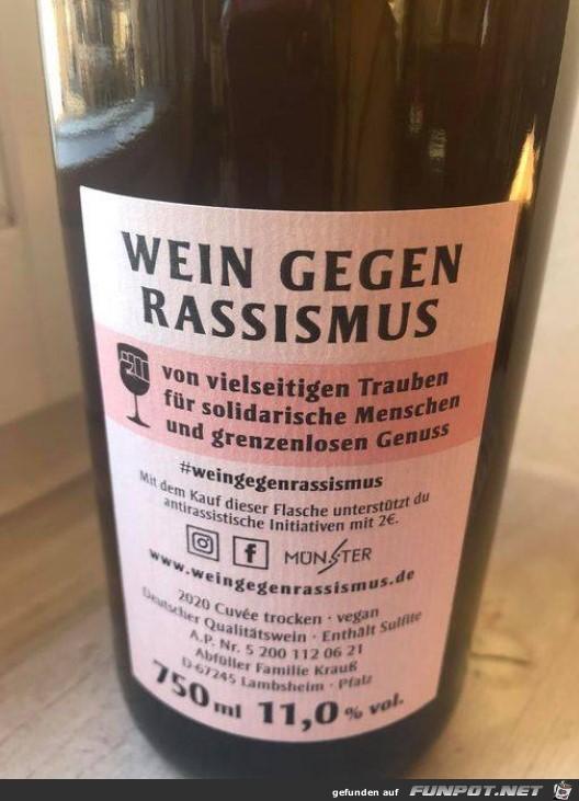 Wein gegen Rassismus