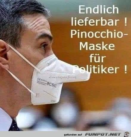 Die Pinocchio-Maske