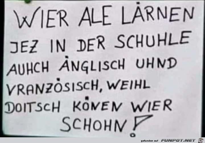 Deutsch können wir schon