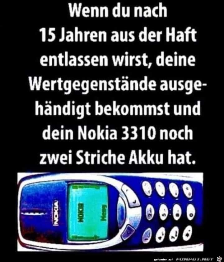 Das alte Nokia hat noch Akku
