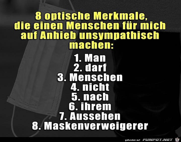 8 Merkmale