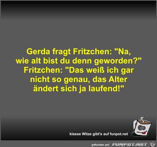 Gerda fragt Fritzchen