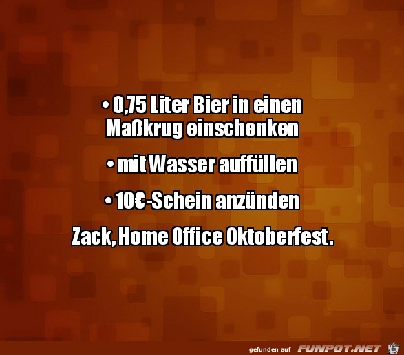 Home Office Oktoberfest