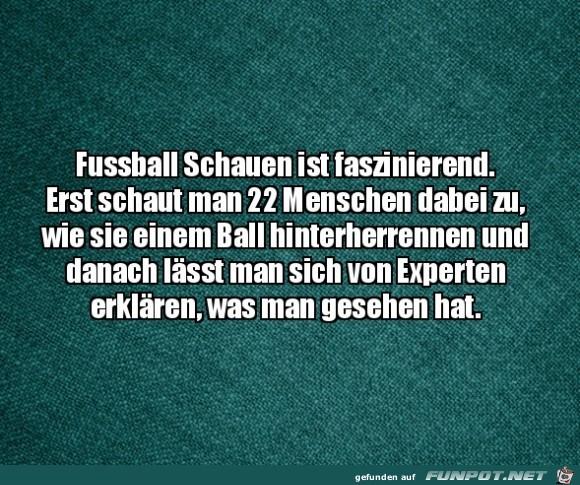 Fußball ist schon faszinierend