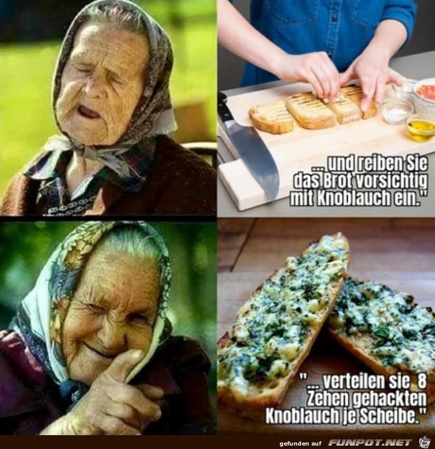 Die alte Lady weiß was schmeckt