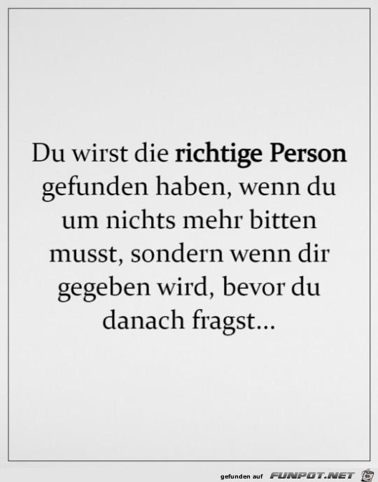 Die richtige Person