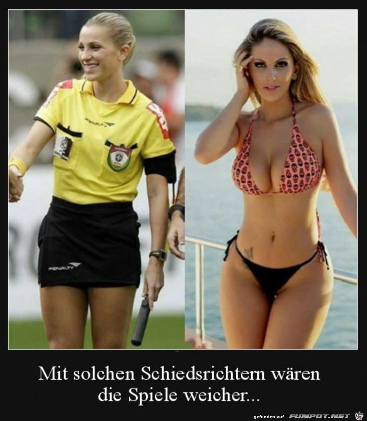 hübsche Schiedsrichterinnen