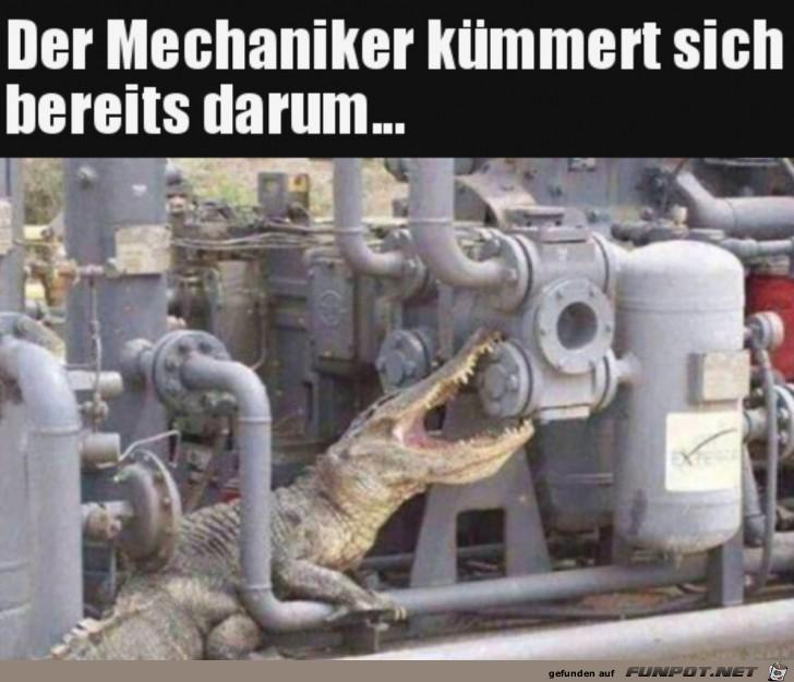 Der Mechaniker ist bereits dran
