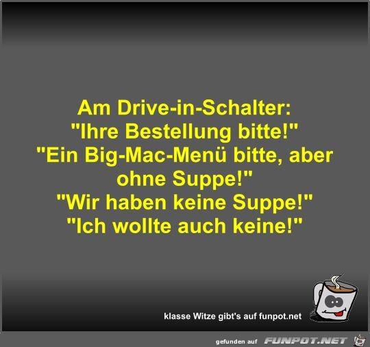 Am Drive-in-Schalter
