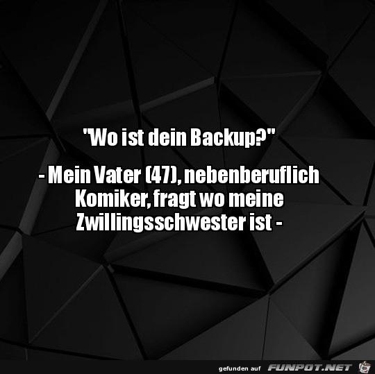Wo ist dein Backup?