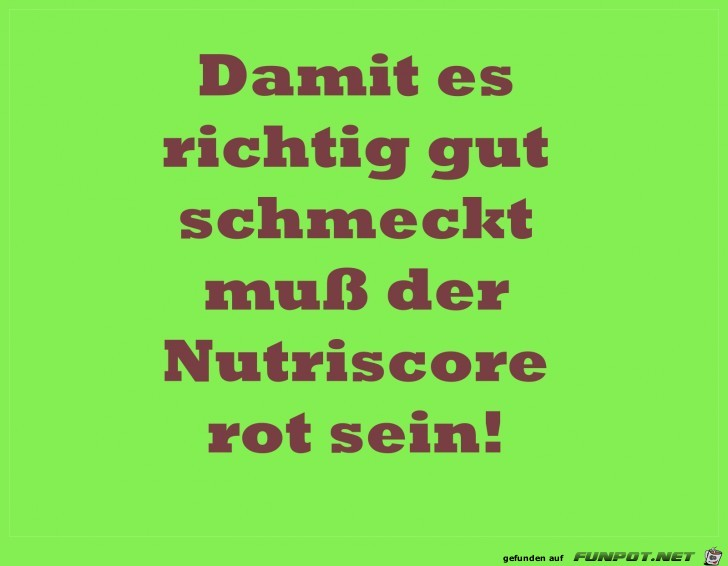 nutriscore rot