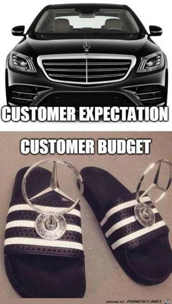 Das Budget reicht nicht ganz