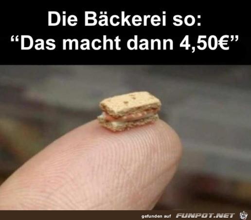 Teurer Bäcker
