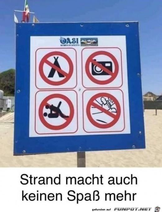 Am Strand ist alles verboten