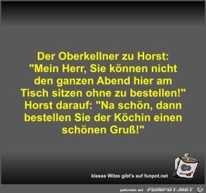 Der Oberkellner zu Horst