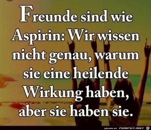 freunde-sind-wie-Aspirin.jpg auf www.funpot.net