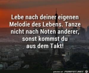 Lebe-nach-deiner-eigenen-Melodie.jpg auf www.funpot.net