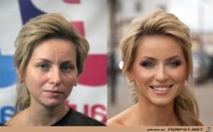 17 Frauen mit und ohne MakeUp 9