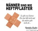 Männer-sind-wie-Heftpflaster.jpg auf www.funpot.net