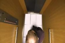 Streich im Aufzug