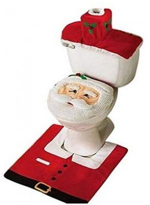 Happy Santa Toilettendeckelbezug und Teppich!