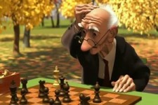 netter Zeichentrick - wenn Opa mit sich selbst spielt