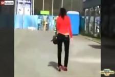 Witzige High Heels Fails