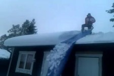 so kann man auch das Dach vom Schnee befreien