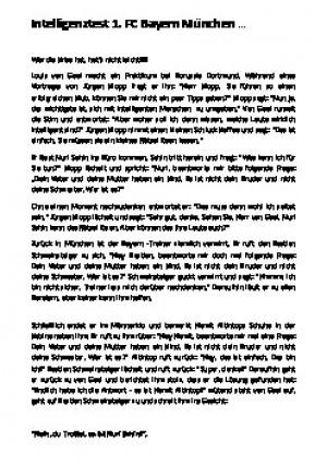 Intelligenztest - 1 FC Bayern MunchenFneu