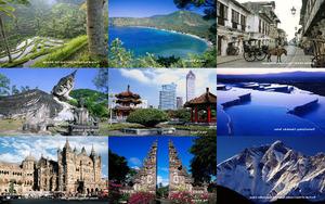 Tour durch Asien