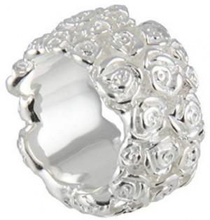 Silberring mit Rosen in Goldschmiede Qualität!