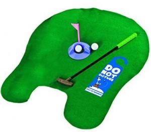 Golf Set für die Toilette.